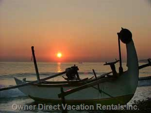 Fishing Boats in the Sunrise