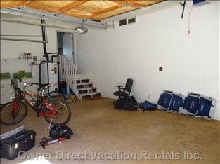 Do you Have Lots of Sports Toys on Vacation? Large Garage for your Use, and the Washer & Dryer Location.