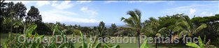 Panoramic Shot of the View from the Large Lanai