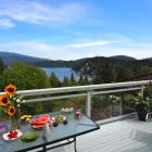 View from our Large Deck of the Garden and Deep Cove