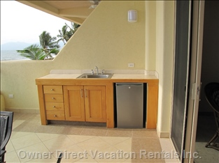 Outdoor Wet Bar and Fridge