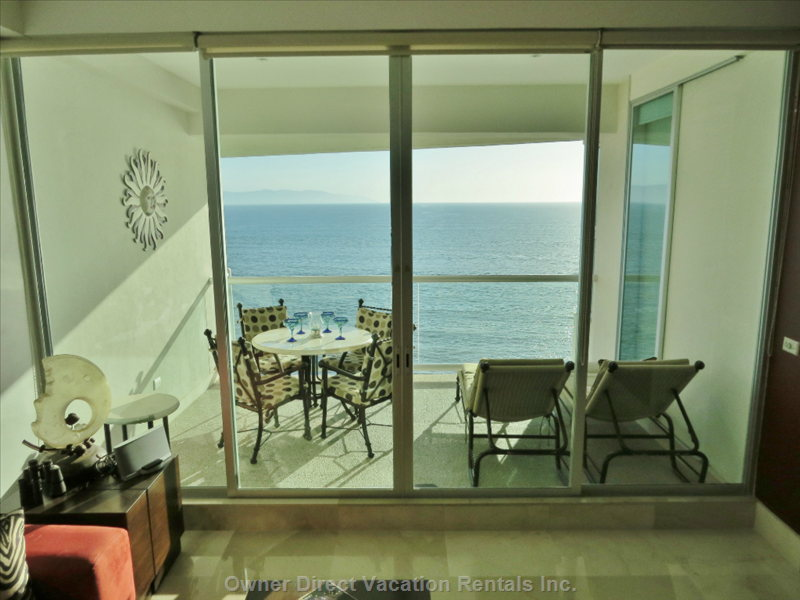 Ocean Terrace with Chaises - Enjoy Panoramic Views and Spectacular Sunsets