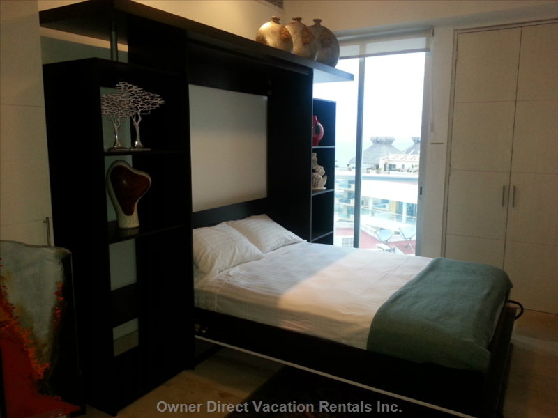 Queen Size Murphy Bed in down Position