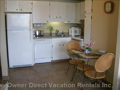 Kitchen/Dining Area - this Area Can Accommodate 4 Persons Dining.