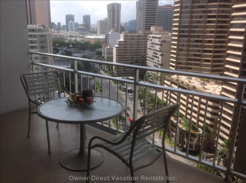 Views from the Lanai of Ala Moana Shopping Centre and Honolulu