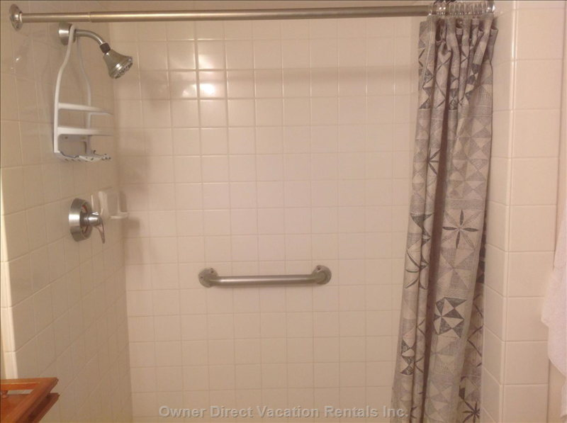 Shower. (no Tub), this Makes it Very Easy for our Elderly Guests to Get in and out of the Shower