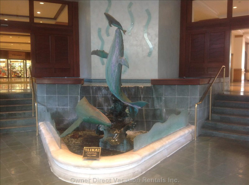 Famous Dolphin Statue, as you Come up the Stairs.