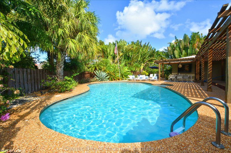 Our Home Comes with a Massive, Heated Private Pool and Huge Entertainment and Sunning Area.