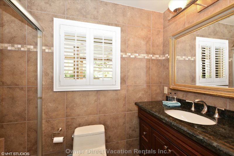 Master Bedroom Ensuite Bathroom with Shower.