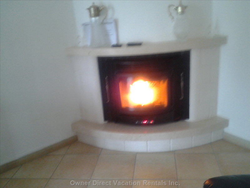 Working Pellet Fireplace