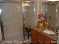 Master Bath with Step in Shower