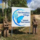 Community Mountain Entrance.  Welcome to Osa Mountain Village/Toucan Valley!