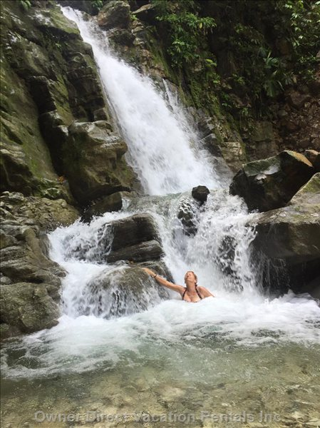 Three Onsite Waterfalls within Walking Distance of Casa Paraiso