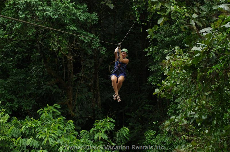 The Osa Canopy Tour Zip-Line is one of the Best in Costa Rica, Onsite at Osa Mountain Village/Toucan Valley.
