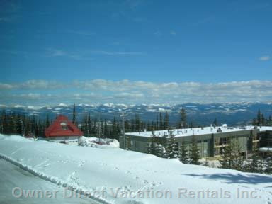 View of the Monashee Mountains from Condo.