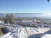 Breathtaking View from the Veranda of the Monashee Mountains