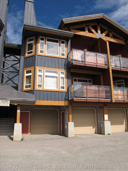 Condo Exterior - the Unit is Directly above the 2 Car Garage.