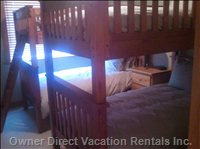 Bunk Bed Room - 4 Beds Total - 2 Pillow Top Mattresses and 2 Tight Top Mattresses. Down Duvets