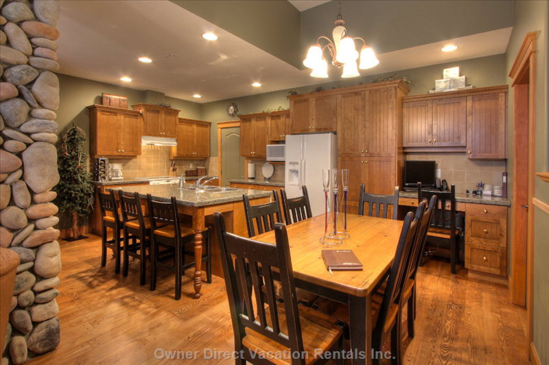 Gourmet Kitchen with Granite Counters