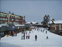 Looking Toward Whitefoot Lodge and the Village Center Mall from Snowshoe Sams Pub