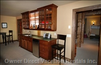 Bonus Room with Wet Bar and Refrigerator