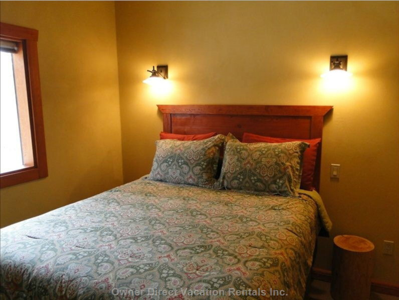 Comfy Bedrooms, each with 2 Sconce Reading Lamps  - Similar to, but May Not be Exactly as Shown
