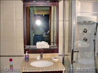 Master Bathroom with Massaging Shower