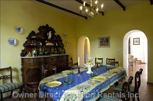 The Dining Room with Family Heirlooms