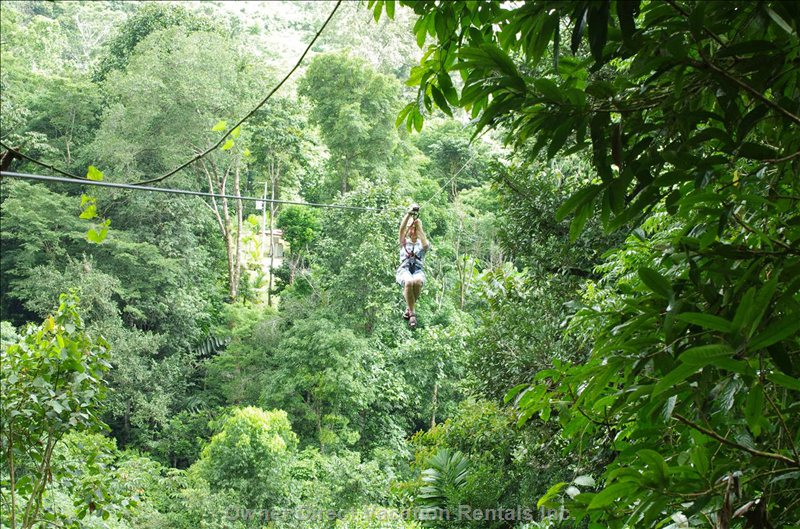 We are Lucky to Have the Osa Canopy Tour ...  Within Walking Distance of this Villa