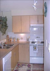 Bright Fully Equipped Kitchen.