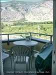 Private Top Corner Balcony with View of Orchards and Vinery.