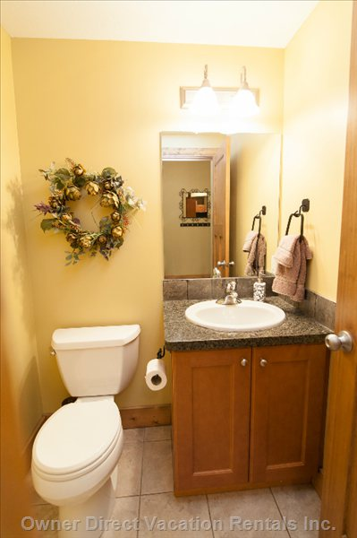 Powder Room on Main Floor.