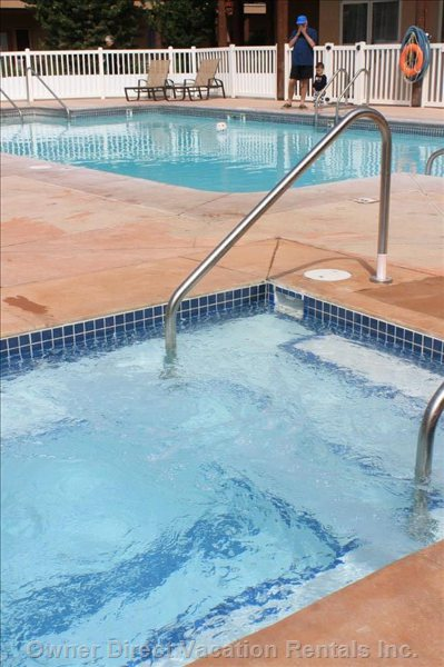 Resort Hot Tub and Pool Area.  Located in Inner Courtyard.