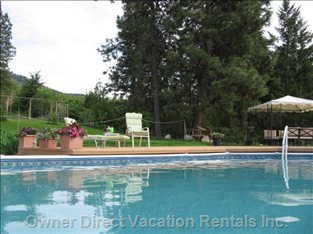 Relax in the Heated Pool and Quiet, Private Property