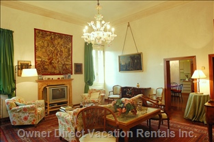 The Living Room is Equipped with an Open Bar for Spirits and Liqueurs, Satellite TV, Stereo Cd and DVD Player.