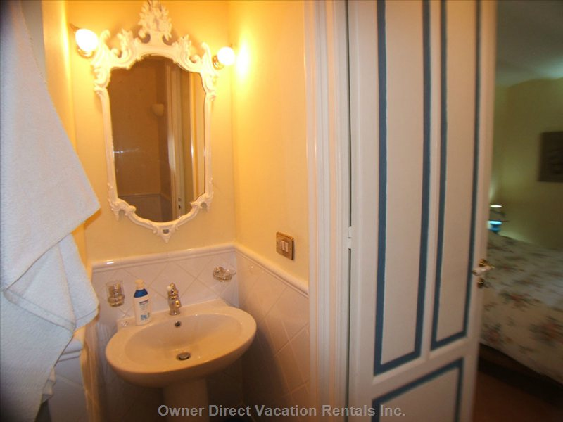 Private Bathroom with Shower off the Double Bedroom