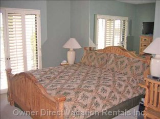 1st Bedroom - Master Bedroom Sliding Door to Golf Course
