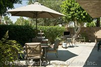 Large Private Patio with Bbq Grill, Fountain & Misters