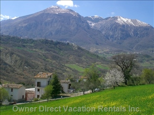The Maieletta Mountain - the Maieletta Mountain Provides a Dramatic Background to the Villa