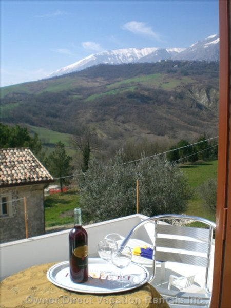 Front Balcony - the Front Balcony Looks out on Rich Olive Groves, Gentle Hills and Striking Mountain Landscapes.