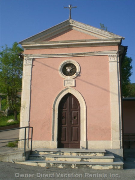 Church of Santa Antonio at Limiti - Built in 1897,  Two Minutes Walk from the Villa