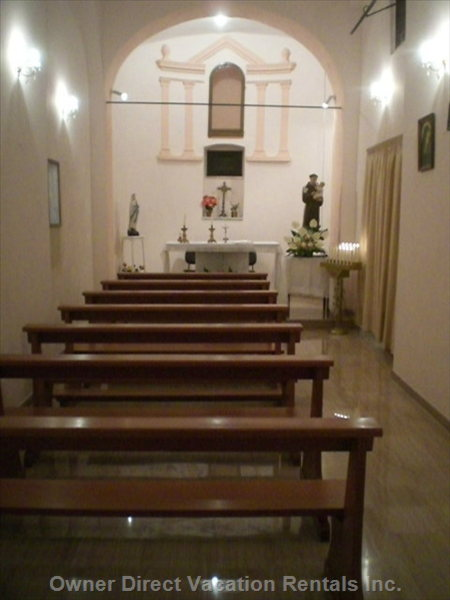 Inside the Church of Santa Antonio