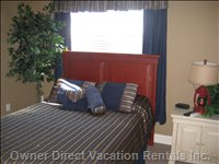Spacious Queen Size Bedroom - this Bedroom is Full Furnished with TV/DVD, Alarm Clock, Night Stand, Dresser. and Large Closet.