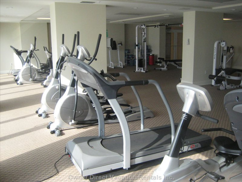 Exercise Room with View of Pool - the Exercise is the Latest and Greatest.  Four Tread Mills, Two Cycles, 4 Ellipticals, and many Weight Machines that Will Give you a Great Work Out.  it is Clean and Brightly Lighted with an Entire Glass Wall Looking out on the Pool and Gulf While you Exercise.