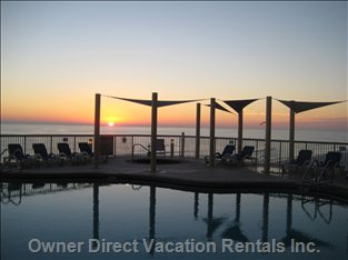 Sunset from the Pool Deck - you Will Never Forget the View at Sunset!