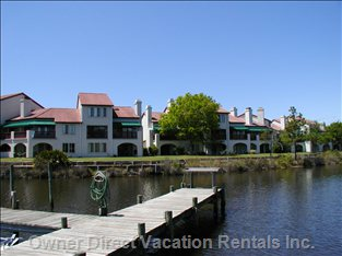 View of Complex from Grand Lagoon and Community Boat Dock