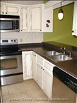 Fully-equipped Kitchen has all Utensils, Cookware and Dishes.