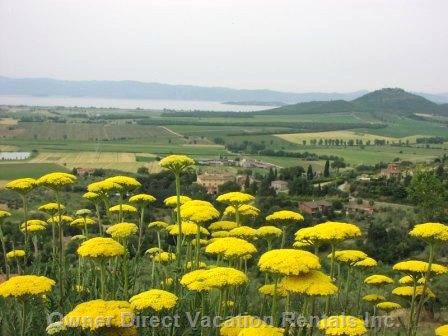 View of the Lake Trasimeno from Panicale
