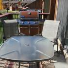 Outside Deck with Bbq and Table with Six Chairs