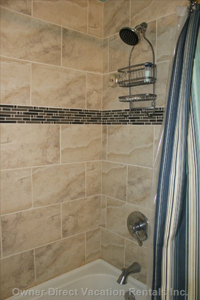 Upstairs Bathroom Shower - Newly Renoed